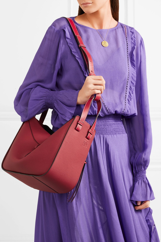 Loewe Hammock textured-leather shoulder bag