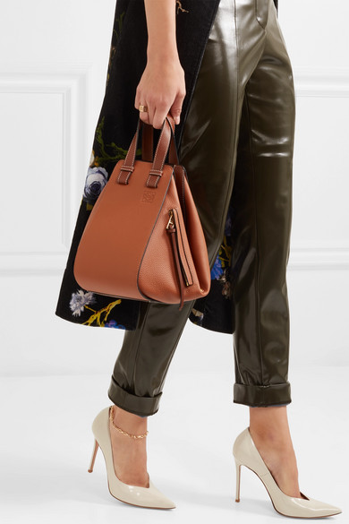 Loewe Hammock Small Shoulder Bag Made Of Textured Leather