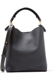 Loewe Hobo small textured-leather shoulder bag