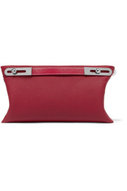 Missy textured-leather shoulder bag