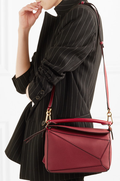 91ab817ff468 Loewe | Puzzle small textured-leather shoulder bag | NET-A-PORTER.COM