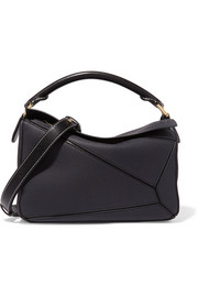 Puzzle textured-leather shoulder bag