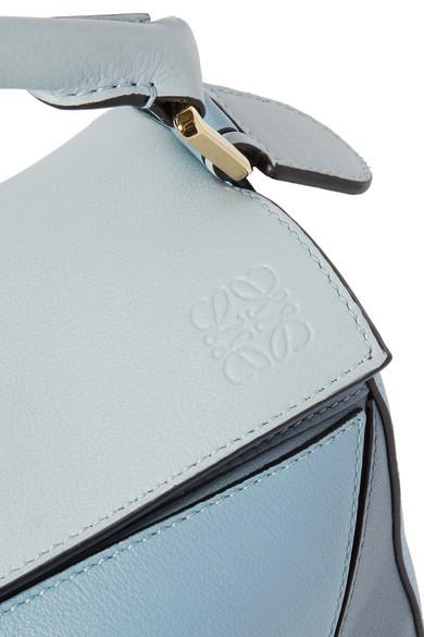 Kauf Verkauf Online Loewe Puzzle kleine Schultertasche aus strukturiertem Leder in Colour-Block-Optik Erstaunlicher Preis Online Bester Preiswerter Großhandelspreis sxXKVE28