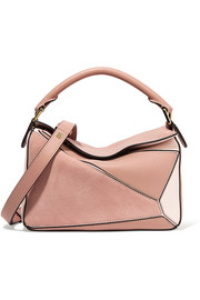 Loewe Puzzle suede and leather shoulder bag