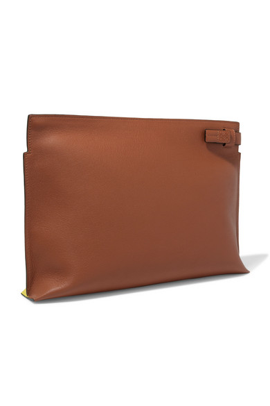 Loewe T Two-color Leather Pouch