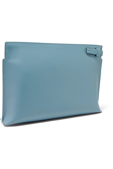 T Two-tone Leather Pouch - Blue Loewe IJwYfemZ