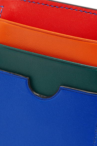 Loewe Card Case Made Of Leather In Color-block-optics