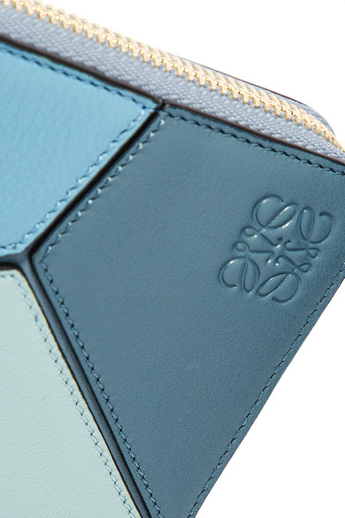 Loewe Puzzle Portemonnaie aus strukturiertem Leder