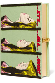 Olympia Le-Tan It's All Over  appliquéd cotton-canvas clutch