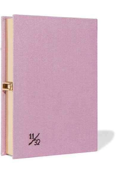 Olympia Le-Tan I Do My Own Thing Clutch aus Baumwoll-Canvas mit Applikation