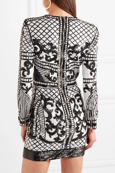 Rabatt Kaufen Balmain Minikleid aus paillettenverziertem Crêpe Mode-Stil Online Erkunden Verkauf Online Verkauf Wahl Spielraum Sehr Billig HnD8AYtQ8