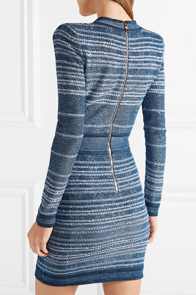 Balmain Minikleid aus Stretch-Strick
