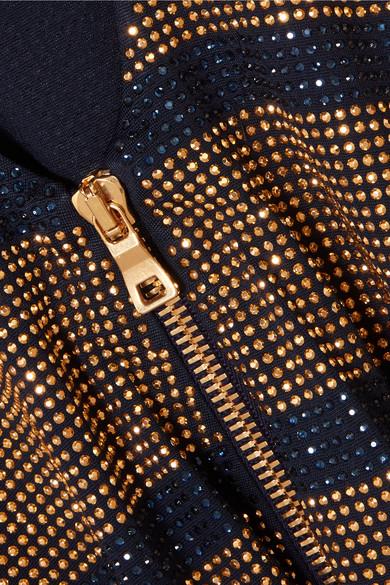 Balmain Minikleid aus Georgette mit Kristallen