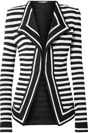 Striped stretch-knit blazer
