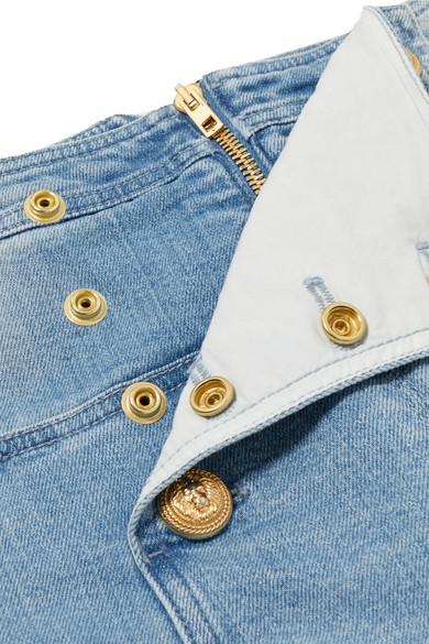 Balmain Hoch sitzende Skinny Jeans mit Zierknöpfen