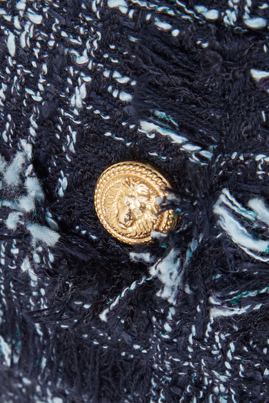Balmain Shorts aus ausgefranstem Tweed aus einer Baumwollmischung