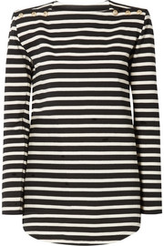 Balmain Striped cotton-jersey top