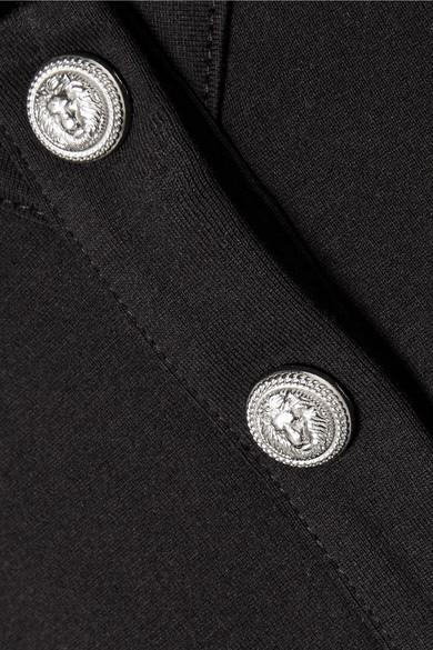 Balmain Oberteil aus Baumwoll-Jersey mit Knöpfen