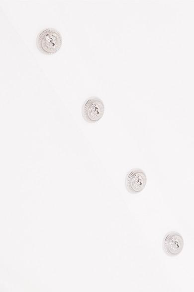 Balmain Oberteil aus Baumwoll-Jersey mit Knöpfen Zum Verkauf Rabatt Verkauf qSIbCip0