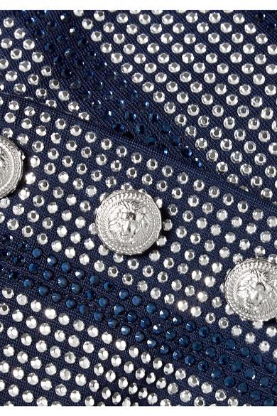 Balmain Verzierte Bluse aus Stretch-Jersey
