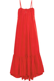 Oddysey silk-habotai maxi dress