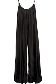 Balloon oversized open-back silk-habotai jumpsuit