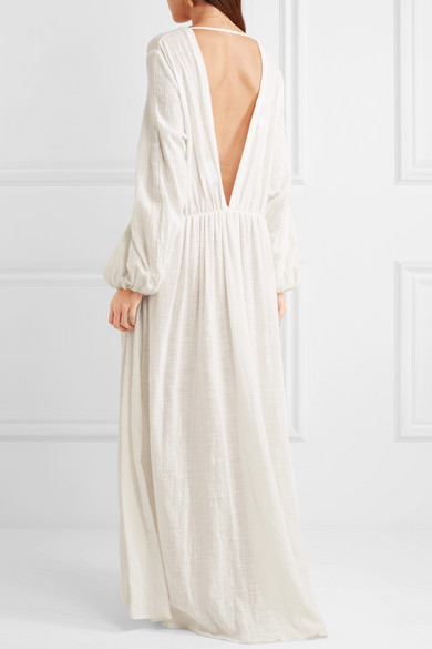 Kalita Aphrodite Cloud Robe aus geraffter Baumwoll-Gaze