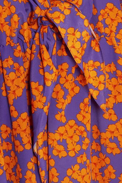 Borgo De Nor Elsa Maxi Dress In Crêpe With Floral Print