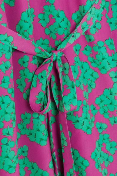 Borgo De Nor Bella Maxikleid aus Crêpe mit floralem Print