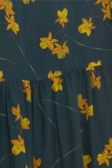 Borgo De Nor Gala Midikleid aus Seidenchiffon mit Blumenprint