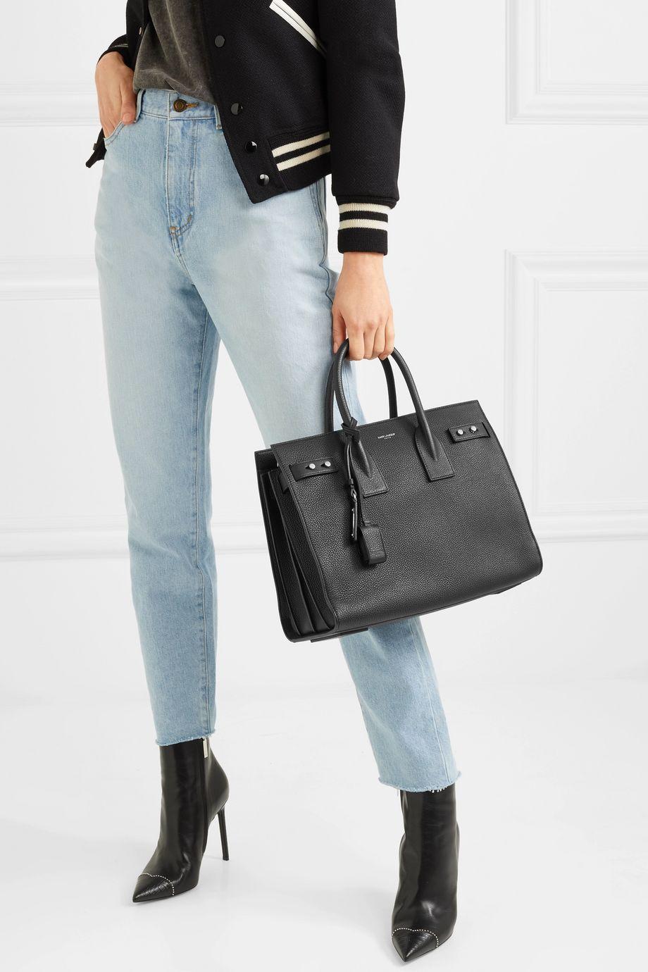 SAINT LAURENT Sac De Jour textured-leather tote
