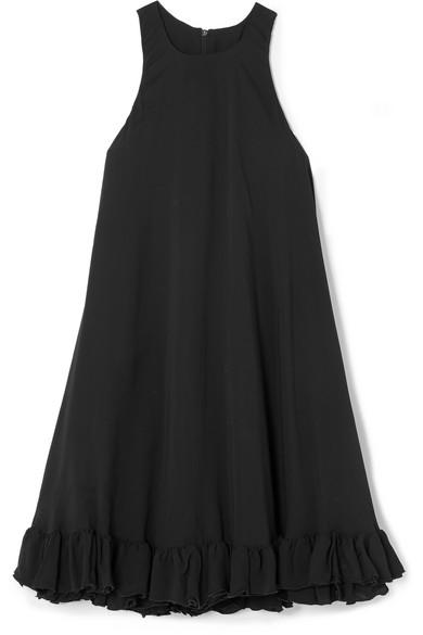 Ruffled Cady Mini Dress - Black Msgm XD4X4XqD