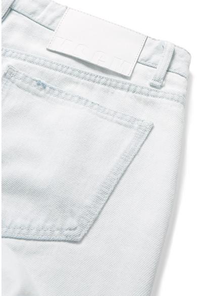 MSGM Halbhohe Jeans mit geradem Bein und Fransen