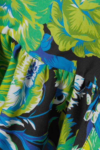 Spielraum 2018 Neu MSGM Baumwollhemd mit Blumenprint und Rüschen Bilder Kaufen Outlet Factory Outlet PJdXsJaNXt