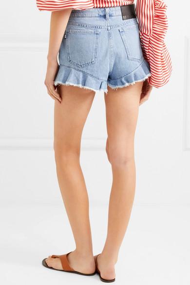 MSGM Jeansshorts mit Rüschen
