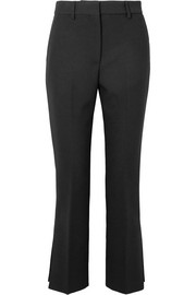 Cropped stretch-crepe flared pants