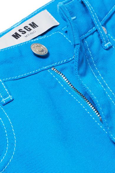 MSGM Verkürzte, hoch sitzende Jeans mit weitem Bein