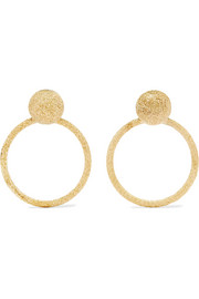 Florentine 18-karat gold earrings