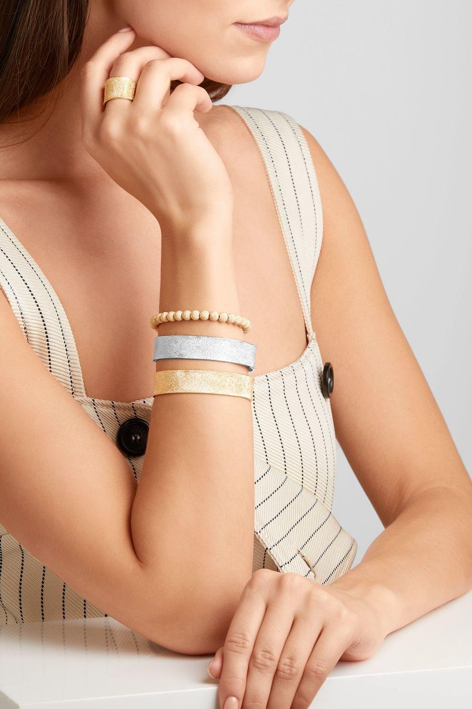 Carolina Bucci Florentine 18-karat white gold cuff