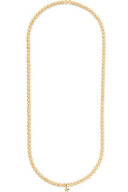 Carolina Bucci 18-karat gold beaded necklace