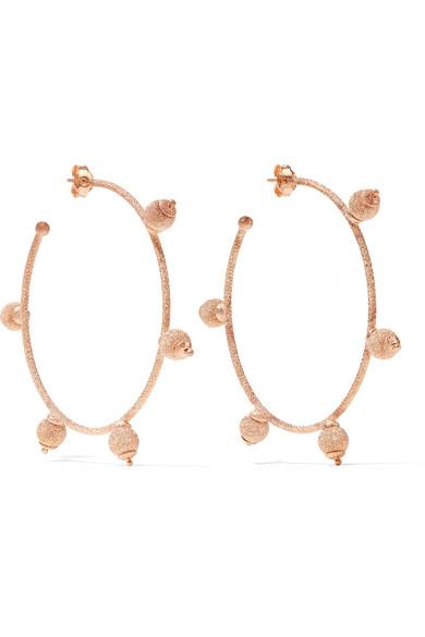 Carolina Bucci - Florentine 18-karat Rose Gold Hoop Earrings