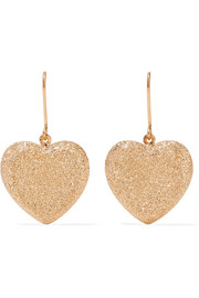 Carolina Bucci Heart 18-karat gold earrings