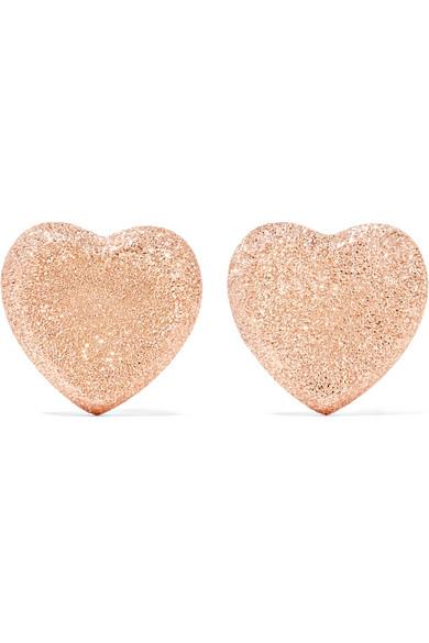 Carolina Bucci - Heart 18-karat Rose Gold Earrings