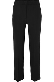 Victoria, Victoria Beckham Piped crepe straight-leg pants