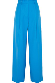 Victoria, Victoria Beckham Cotton-twill wide-leg pants