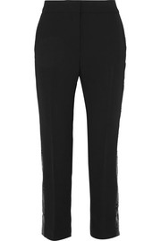 Victoria, Victoria Beckham Sequined crepe straight-leg pants