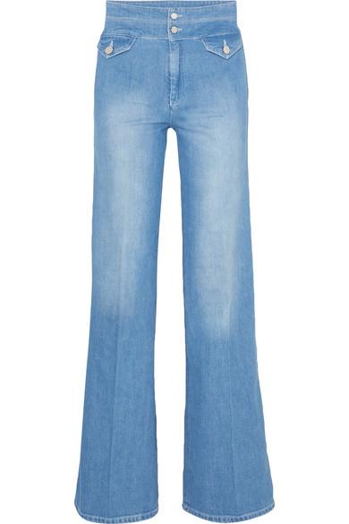Victoria, Victoria Beckham Woman Distressed Mid-rise Skinny Jeans Mid Denim Size 31 Victoria Beckham