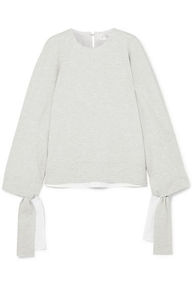 Victoria, Victoria Beckham Sweatshirt aus Stretch-Jersey mit Bindedetails