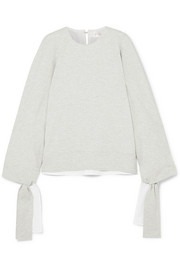 Victoria, Victoria Beckham Tie-detailed stretch-jersey sweatshirt