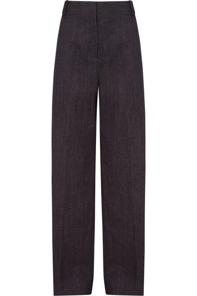 Victoria, Victoria Beckham Pants From A Cotton-linen Blend